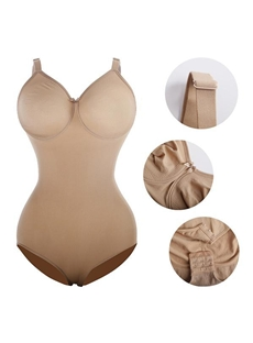 Plus Size Broad Strap Shapewear Bodysuit Tummy Control Full Body Shaper