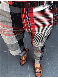 New slim casual men's trousers