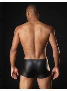 Men's Boxer Underwear with Patent Leather